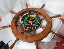 Skelmersdale Royal Naval association Ships wheel sign /plaque 64cm across