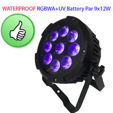 Waterproof Par Light 9x12w RGBWA+UV 6in1 LED Battery Wireless iOS Android