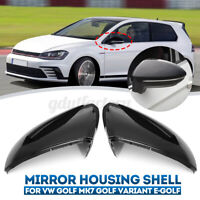 Rear View Side Wing Mirror Cover Cap 5G0857537B For VW Golf MK7 MK7.5 13-18