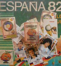 PANINI LOTTO 25 FIGURINE CALCIATORI ESPANA 82 AUTOADESIVE CON VELINA RECUPERATE