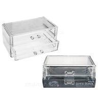 Acrylic Clear MakeUp Organiser Drawer Cosmetic Jewellery Display Storage Box New