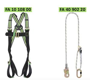 Kratos Premium Restraint Harness and Lanyard Kit