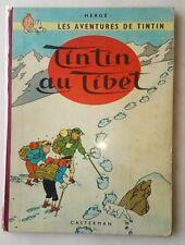 Album tintin E.O Tintin au Tibet Danel 1960 B29 - Bon état - Voir Photos !
