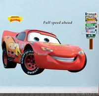 Extra Large Disney Cars LIGHTNING MCQUEEN Wall Stickers Kids Boys Bedroom Decal