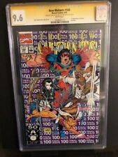 NEW MUTANTS #100 CGC SS 9.6 NM+ SIGNED STAN LEE & ROB LIEFELD 1st App X-FORCE