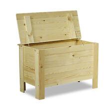 Holztruhe Holzkiste Truhe Kiste mit Deckel Holz Spielzugkiste B-13 / 3 Farben