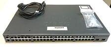 WS-C2960X-48TD-L - Cisco Catalyst 2960X 48 GigE, 2 x 10G SFP+ LAN Base FAST SHIP