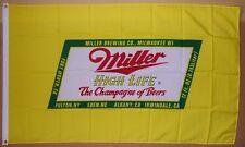 New listing Miller High Life Beer Flag 3' X 5' Deluxe In 00006000 door Outdoor Banner