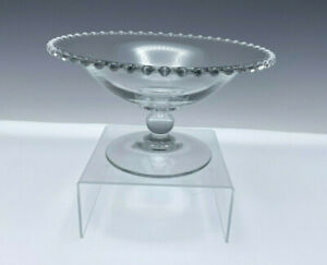 """Imperial Candlewick Glass Low Footed Pedestal Bowl or Compote 9"""" 400/67B"""