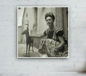 Frida Kahlo With Deer, Photo 1939 - Print / Mexico / Vintage / Black And White