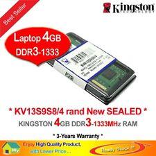 Kingston 4GB SO-DIMM 1333 MHz PC3-10600 DDR3 SDRAM Laptop Memory (KVR13S9S8/4G)