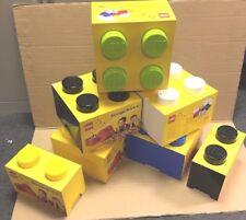 LOTTO di 7 enorme in scala LEGO Brick Manopola Scatola Di Immagazzinaggio contenitori scatole di grandi dimensioni