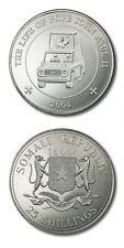 Somali Rep Life of Pope John Paul II Popemobile 25 Shillings 2004 Prooflike KM15