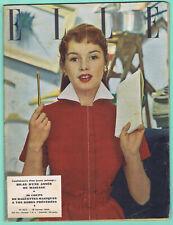 ▬►ELLE 423 de 1954 BRIGITTE BARDOT_MODE FASHION VINTAGE