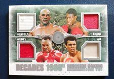 Muhammad Ali Frank Bruno FIGHT/TRAINING WORN Boxing Card Ringside Round 2 D-05