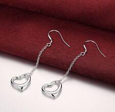 New Women Fashion 925 Silver Plated Heart Dangle Drop Earrings 36-10
