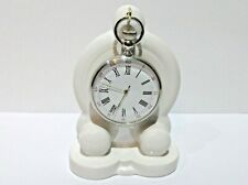 Art Deco style WHITE Ceramic, china Pocket watch stand watch display (2 colours)