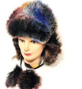 Women Winter Fur Trapper Aviator Trooper Cap Russian Earflap Ski Hat Outdoor