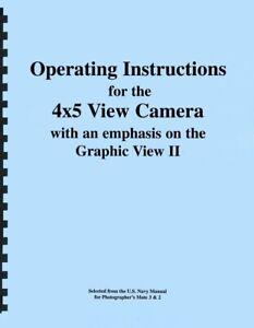 Graflex Graphic View II 4x5 Camera Instruction Manual Reprint
