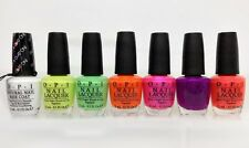 OPI- NEON SUMMER Collection 2014- All 7 shades Base Coat NT N01 & NL N33- NL N38