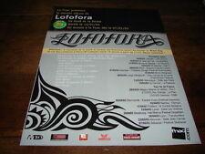 LOFOFORA - PUBLICITE LE FOND ET LA FORME !!! 2003 !!!!!