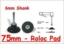 Roloc 75mm Backing Pad - Holder for 3M Roloc discs - Free Postage