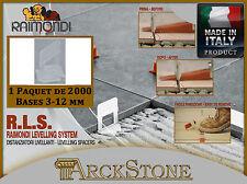 ARCKSTONE paquet 2000 bases tuiles 3-12 mm RLS Raimondi système de nivellement