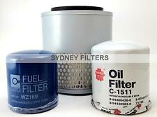 HOLDEN RODEO 2.5L & 2.8L AIR OIL FUEL FILTER KIT 1988-03 TURBO DIESEL / DIESEL