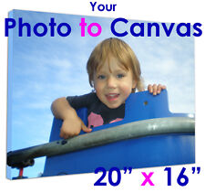 """Your Photo Printed to CANVAS 20""""x16"""" Present or Gift"""