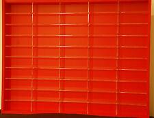 Model Car Display 1:43 Hotwheels,Matchbox, Biante, Tomica,Trax, Sparks ( RED )