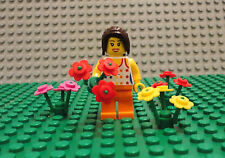 LEGO Minifigure Girl Lot Flowers City Town Female Toy Lego People Lady Minifig