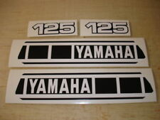 1980 YAMAHA YZ 125 GAS TANK AND SIDE PANEL DECALS AHRMA