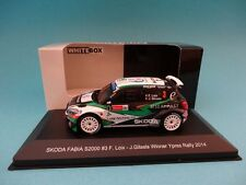 SKODA FABIA S2000 #3 - F.LOIX  1st RALLY YPRES 2014 1/43 NEW IXO WHITEBOX WBR021