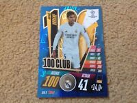 Match Attax Champions League 2020/21 Raphael Varane 100 Club Rare New Foil Card