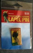 Operation Iraqi Freedom Lapel Pin. AAFES. Liberty. New in plastic!     *C2