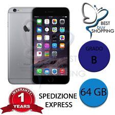 IPHONE 6 RIGENERATO GRADO B 64GB 64 GB NERO ORIGINALE APPLE + GARANZIA 1 ANNO