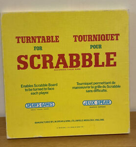Scrabble Turntable Spears Vintage Rotate The Board As You Play Plastic Tray Easy