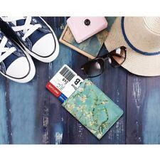 Leather Passport RFID Blocking cover Credit ATM Card holder passport/card case
