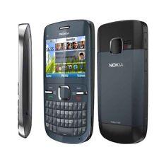 "Blue Original Nokia C3-00 Wifi Qwerty Keypad Unlocked 2.0MP  2.4"" Mobile Phone"