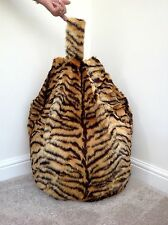 COVER ONLY Bean Bag Faux Fur Large 3 Cubic Ft Size Children Tiger Print New