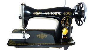 Antique Singer 15K RAF sewing machine leather denim canvas mint RARE Super vtg