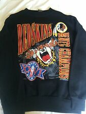 Vintage Changes 1990 Super Bowl 25 Washinton Redskins Taz Crewneck Sweater Sz L