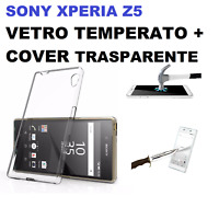 COVER + PELLICOLA VETRO TEMPERATO PER SONY XPERIA Z5 CUSTODIA CASE + GLASS