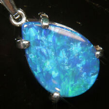 925 Sterling Silver Opal Pendant Necklace
