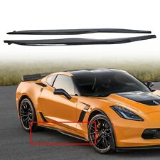 For 14-Up Corvette C7 CARBON FLASH METALLIC Side Skirt Z06 Style Rocker Panels