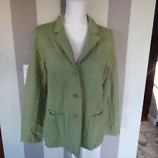 Eileen Fisher Sz pl Wool Green Button Front Jacket Coat Sweater blazer nk