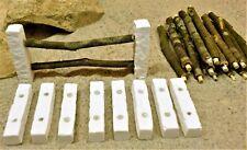 Krippenzubehör, Krippenzaun, 4cm hoch, 70cm lang. 28-teilig, für kleine Figuren