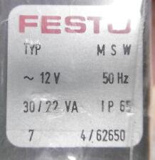 Festo Magnetspule MSW-12V 50Hz 30/22 VA IP65 Pneumatik NEU OVP