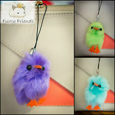 Soft Fluffy Cute Toy Charm School Bag Dangle Chick Colourful Fun Sweet Grade