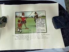 (2) Vintage C Crombie Perrier Advertising Golf Print Rule 23 & 33 1970's Germany